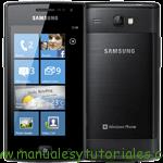 Samsung Omnia W I8350 manual guia usuario smartphone gama alta posicionamiento web