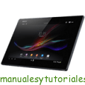 Sony Xperia Tablet Z manual usuario pdf internet tablet internet