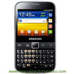 Samsung Galaxy Y Pro manual usuario pdf