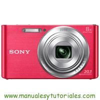 Sony DSC-W830 Manual de Usuario PDF